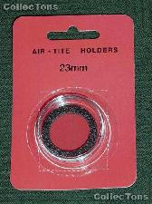 """Air-Tite Coin Capsule """"T"""" Black Ring Coin Holder for 23mm Coins"""