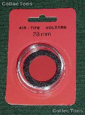 """Air-Tite Coin Capsule """"H"""" Black Ring Coin Holder for 28mm Coins"""