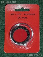 """Air-Tite Coin Capsule """"H"""" Black Ring Coin Holder for 29mm Coins"""