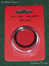 """Air-Tite Coin Capsule """"H"""" Black Ring Coin Holder for 32mm Coins"""