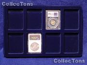 Lighthouse Velvet Coin Trays for Slabs TAB 8 USK Blue