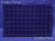 """Lighthouse Velvet Coin Trays 3/4"""" Holders TAB 77 Blue"""