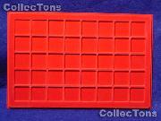"""Lighthouse Velvet Coin Trays 1-1/3"""" Holders TAB 40 Red"""