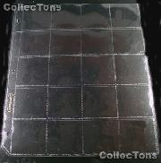 Supersafe 20-Pocket Archival Page for 2x2 Coin Holders