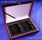 Single Tray Wooden Box for 2 Universal Slab Holders