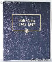 Half Cents 1793-1857 Whitman Classic Album #9109