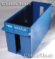 Color-Coded Plastic Coin Roll Tray for 50 NICKEL Rolls