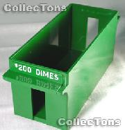 Color-Coded Plastic Coin Roll Tray for 40 DIME Rolls