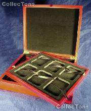 Two Tray Wooden Box for 12 Universal Slab Holders