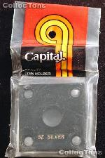Capital Plastics 2x2 Holder - 3 CENT SILVER in Black