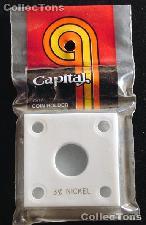Capital Plastics 2x2 Holder - 3 CENT NICKEL in White