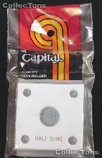 Capital Plastics 2x2 Holder - HALF DIME in White