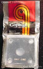 Capital Plastics 2x2 Holder - HALF DIME in Black