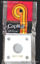 Capital Plastics 2x2 Holder - BUST DIME in White