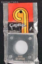 Capital Plastics 2x2 Holder - BUST QUARTER - Black