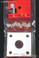 Capital Plastics 2x2 Holder - $2.50 GOLD in White