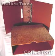 Lighthouse OPTIMA-G Coin Binder and Slipcase in Brown