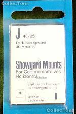 Showgard Pre-Cut Black Stamp Mounts Size J40/25