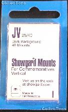 Showgard Pre-Cut Black Stamp Mounts Size JV25/40