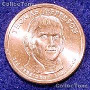 2007 P&D Jefferson Presidential Dollar GEM BU 2007 Jefferson Dollars