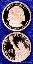 2007-S James Madison Presidential Dollar GEM PROOF Coin