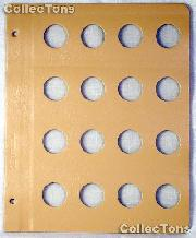 Dansco Blank Album Page for 25mm Coins