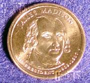 2007 P&D James Madison Presidential Dollar GEM BU 2007 Madison Dollars