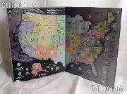 Harris 50 State, D.C. & Territory Quarter Map
