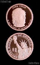 2009-S John Tyler Presidential Dollar GEM PROOF Coin