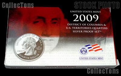 2009 SILVER QUARTER PROOF SET OGP Replacement Box and COA