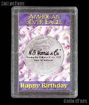Harris 2x3 Happy Birthday Holder for SILVER EAGLES