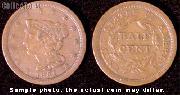 Braided Hair Half Cent 1840-1857