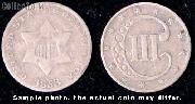 Three-Cent Silver Piece 1851-1873