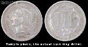 Three-Cent Nickel Piece 1865-1889