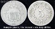 Shield No Rays Nickel 1867-1883 Variety 2