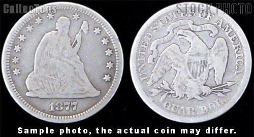Liberty Seated Motto Quarter 1866-1891 (V4) *3 Different Coins