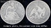 Liberty Seated No Motto Half Dollar 1839-1866 Variety 1