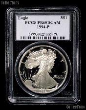 1994-P American Silver Eagle Dollar PROOF in PCGS PR 69 DCAM
