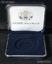 Blue Velvet Box for 1 Silver Eagle No Holder