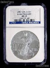 2007 American Silver Eagle Dollar EARLY RELEASES in NGC MS 69