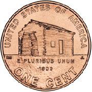 2009 Lincoln Bicentennial Cent Log Cabin * BU