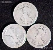 1916 Walking Liberty Silver Half Dollar - Lower Grade
