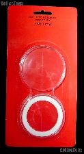 """Air-Tite Coin Capsule """"Y"""" White Ring Coin Holder for 50.8mm Coins"""