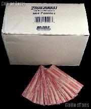 1000 Flat Kraft Paper Coin Wrappers for 50 SMALL CENTS
