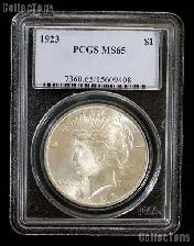 1923 Peace Silver Dollar in PCGS MS 65