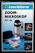 Zoom Microscope with LED by Lighthouse (PM3) 20x - 40x Illuminated Pocket Microscope