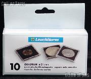 Coin Holder Half Dollar by Lighthouse (QUADRUM 31) 10 Pack of 31mm 2x2 Plastic Coin Holders for Half Dollars