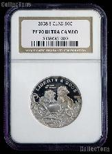 2008-S Bald Eagle Clad Commemorative Half Dollar Proof in NGC PF 70 Ultra Cameo
