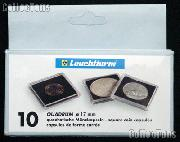 Coin Holder 1/10 oz American Eagle $5 Gold or $10 Platinum by Lighthouse (QUADRUM 17) 10 Pack of 17mm 2x2 Plastic Coin Holders