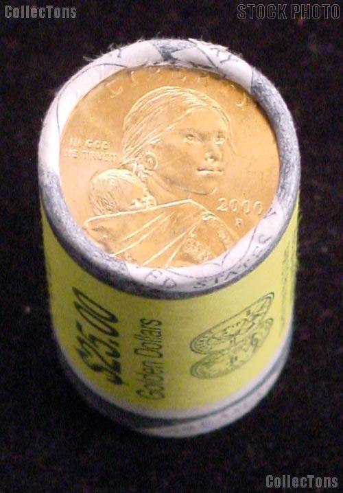 2000 P U S Mint Roll Of Sacagawea Dollars 25 Coins